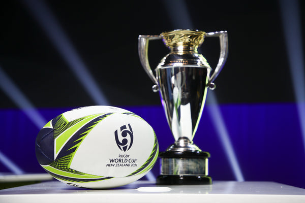 Rugby World Cup 2021 Trophy and ball
