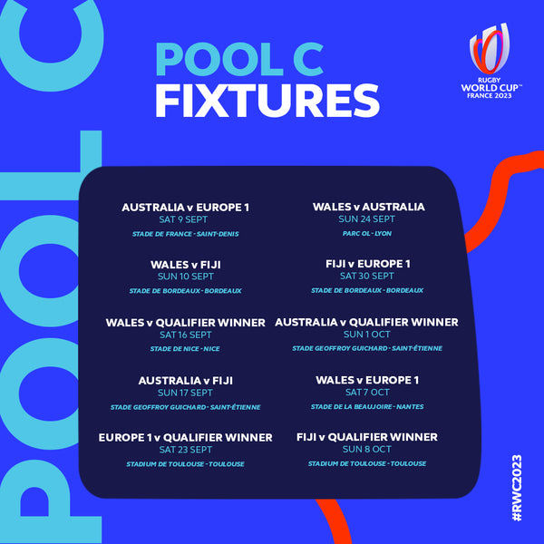 Rugby World Cup Pool C fixtures