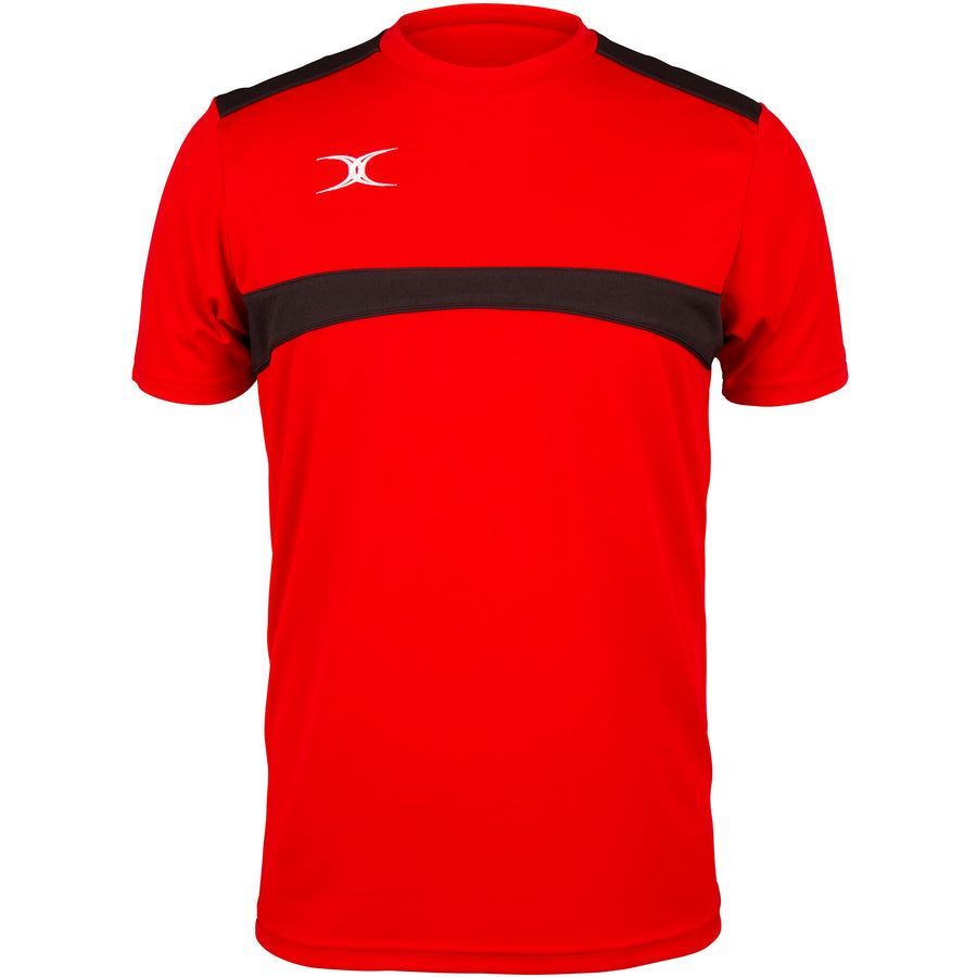 2600 RCFK18 81509805 Tee Photon Red & Black Front