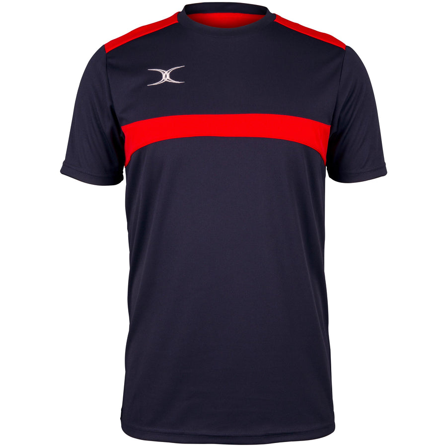 2600 RCFK18 81510105 Tee Photon Dark Navy & Red Front