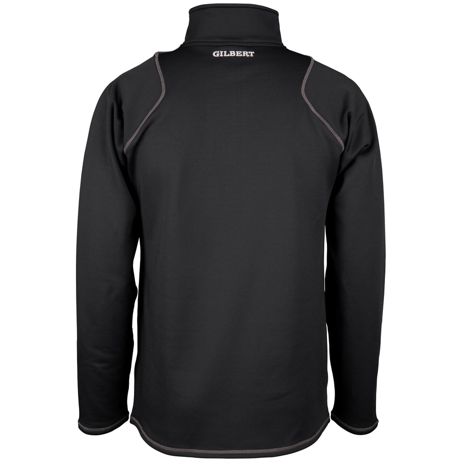 2600 RCGG18 81513405 Top Quest 2 Quarter Zip Fleece Black, Back