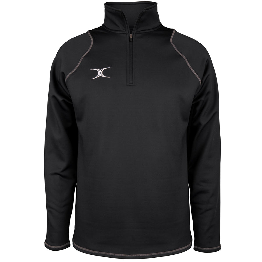 2600 RCGG18 81513405 Top Quest 2 Quarter Zip Fleece Black Front