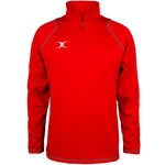 2600 RCGG18 81513605 Top Quest 2 Quarter Zip Fleece Red Front