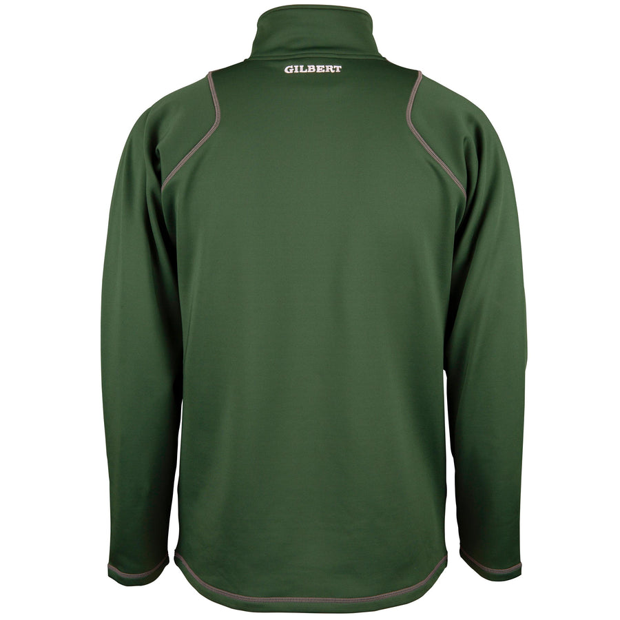 2600 RCGG18 81513705 Top Quest 2 Quarter Zip Fleece Green, Back
