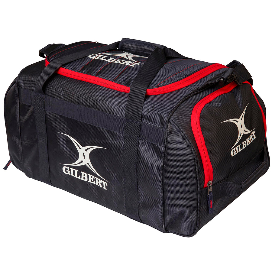 2600 RHAF19 83026400 Bag Performance Holdall Black _ Red Front