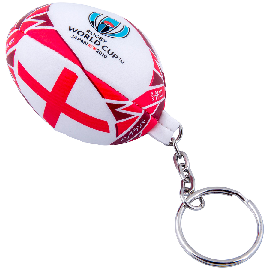 RWC 2019 England Flag Ball Keyring