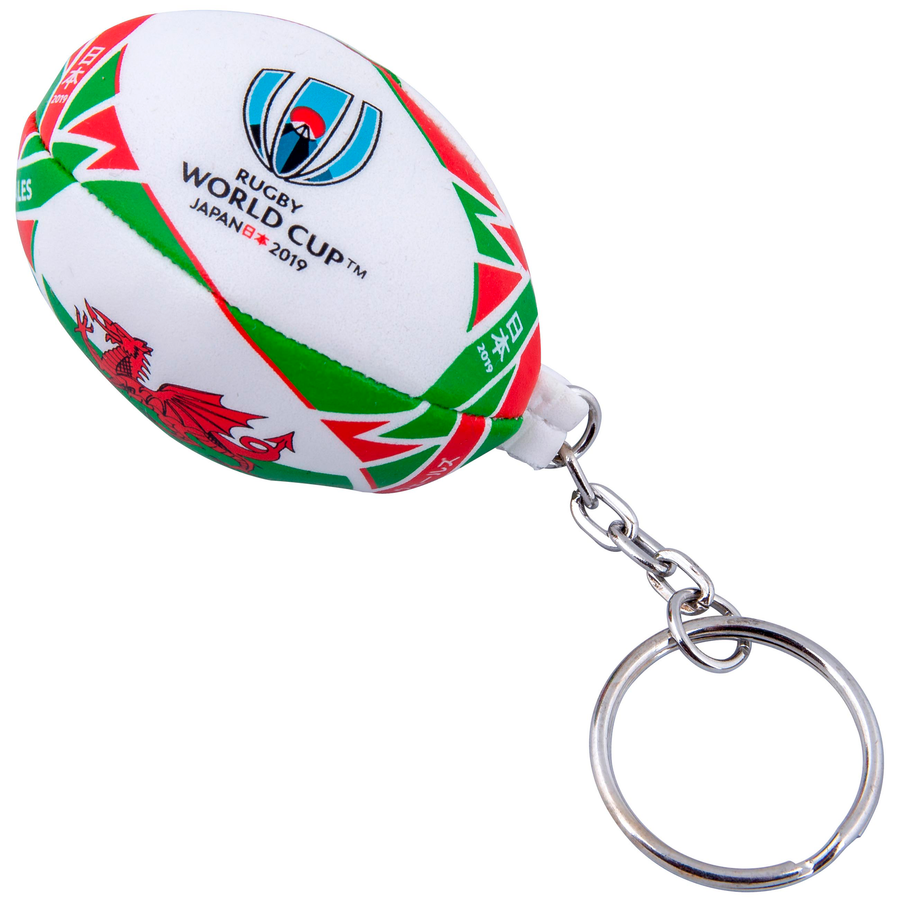 RWC 2019 Wales Flag Ball Keyring