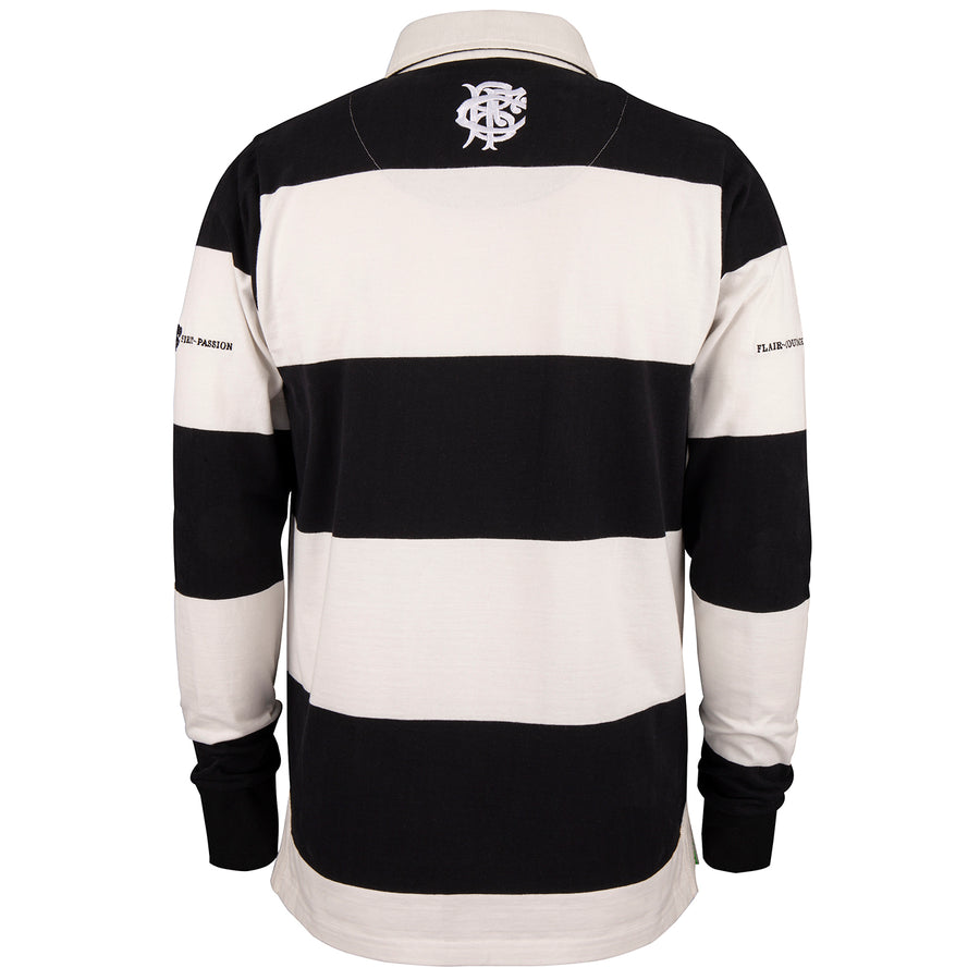 Barbarian FC Adult's Heritage Shirt Black / White - Long Sleeve