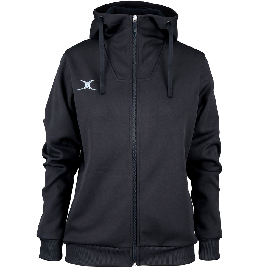 RCBQ17Jacket Pro Technical Hoodie Full Zip Ladies Black, Front