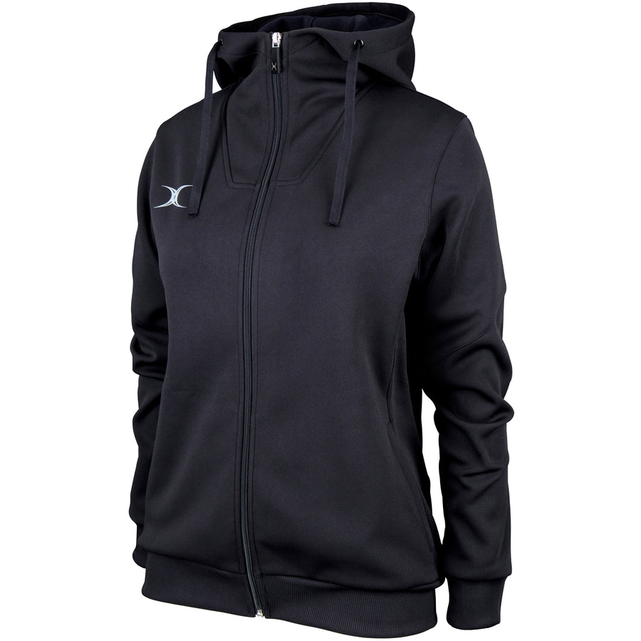 RCBQ17Jacket Pro Technical Hoodie Full Zip Ladies Black Main