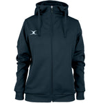 RCBQ17Jacket Pro Technical Hoodie Full Zip Ladies Dark Navy, Front