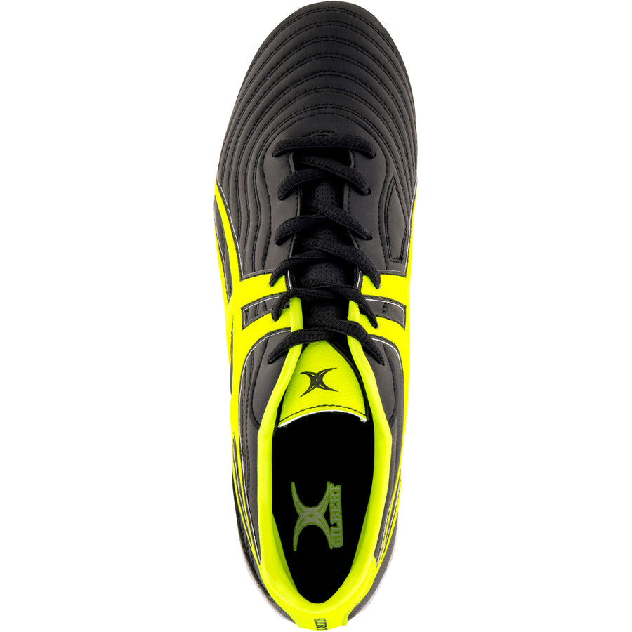 RSDA18Boot Sidestep V1 Lo8s Black_neon Yellow, Top