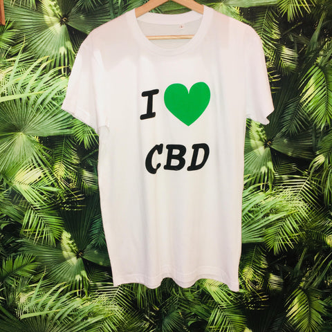 T-shirt I Love CBD - Green Heaven - CBD 0%THC