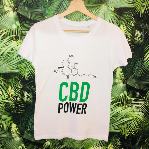 T-shirt CBD POWER - Green Heaven - CBD 0%THC