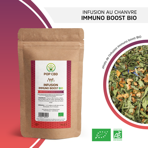 "Infusion bio chanvre ""Immuno boost"" Pop CBD - Green Heaven 