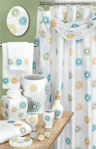 Julia White Shower Curtain - Shower Curtain