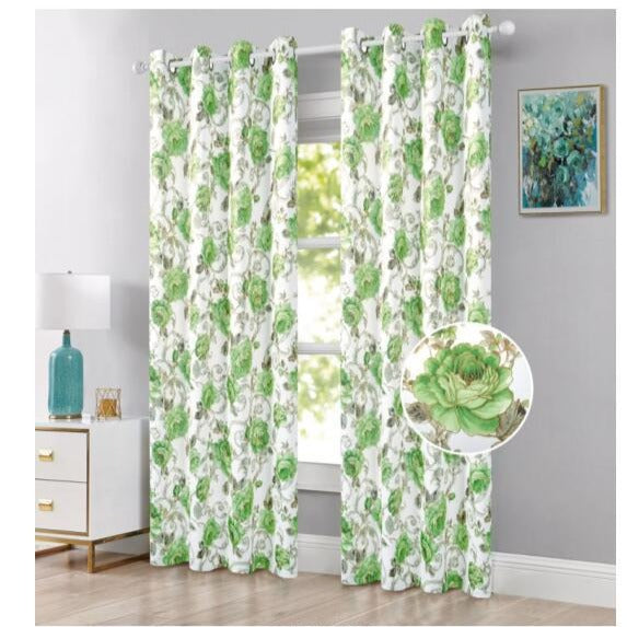 La-Rosa Floral Blackout Grommet Panel