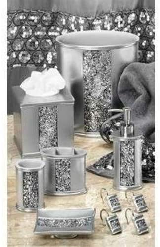 Sinatra Collection Silver - 5 PC Bath Accessory Set
