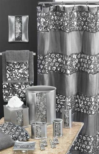Sinatra Collection Silver - Shower Curtain