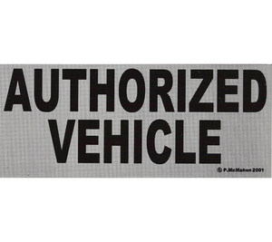 P-AU // Authorized Vehicle