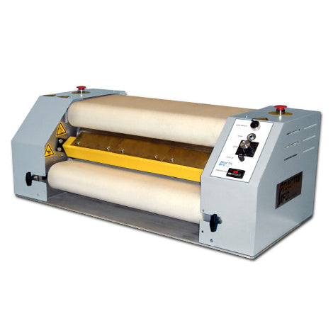 "24"" Practix OK-06 Narrow Web Continuous Belt Rotary Sublimation Transfer Press (6"" Diameter Drum)"