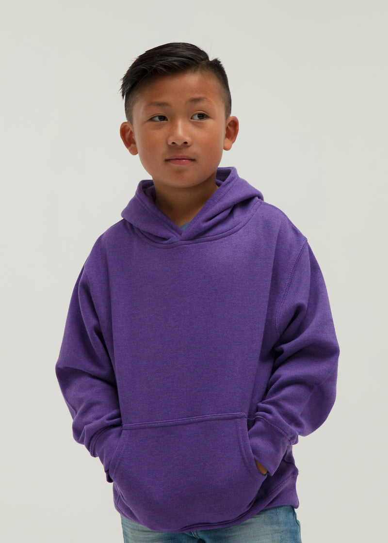 301 Youth Pullover Hoodie - Purple Heather