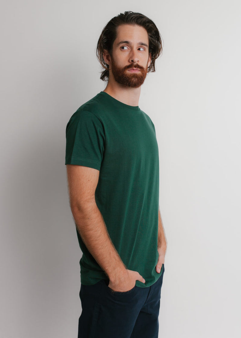 402 Premium T Shirt Forest Angled Side Full View