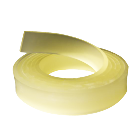 squeegee rubber clear yellow