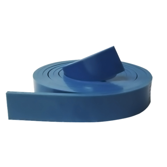 squeegee rubber opaque blue