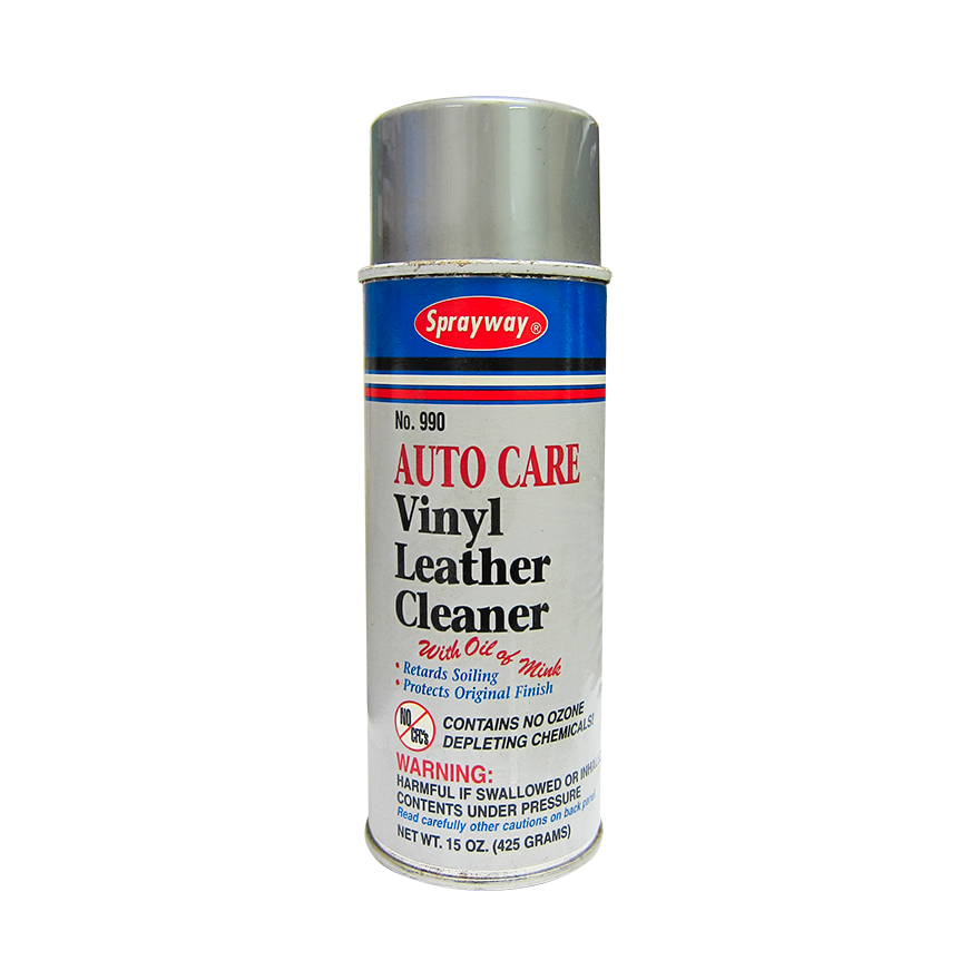 leather cleaner 15 ounce greay spray can