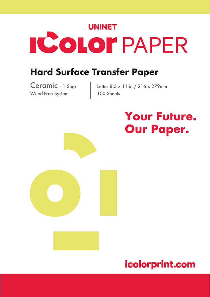 iColor Ceramic Hard Surface 1 Step Transfer Media