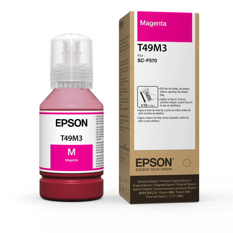 Epson Dye Sublimation Ink 140ML for Epson F570 and Epson F170 Magenta