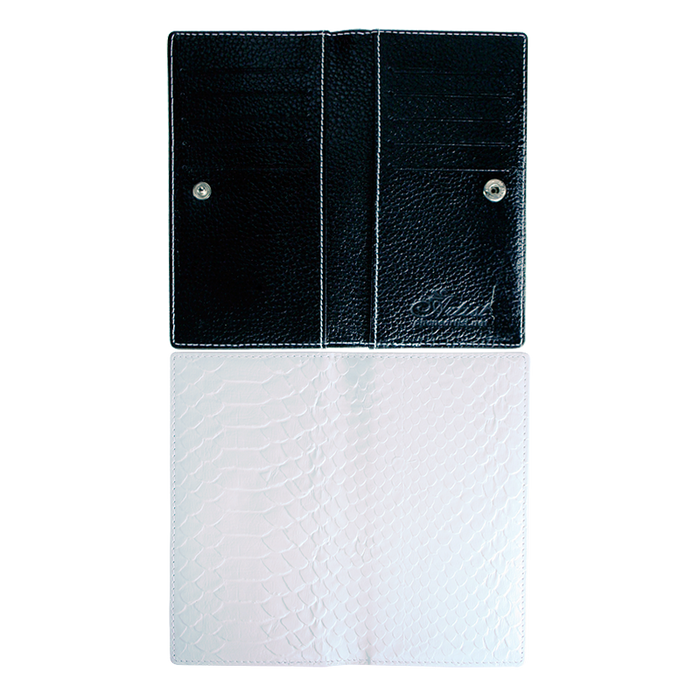 blank PU leather passport cover with black lining