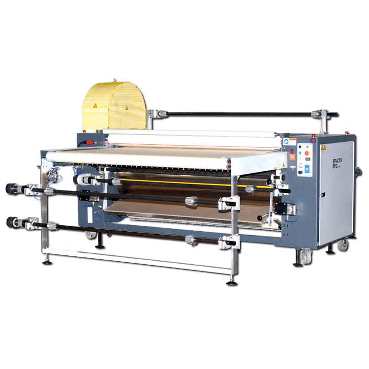 "42"" Practix OK-405 Cut Part with Roll To Roll Rotary Sublimation Transfer Press (24"" Diameter Drum)"