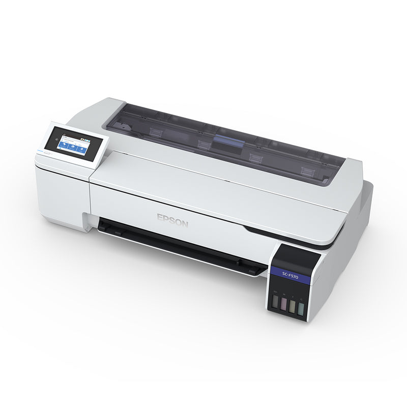 "Epson SureColor F570 24"" Dye Sublimation Printer Angled Top View"