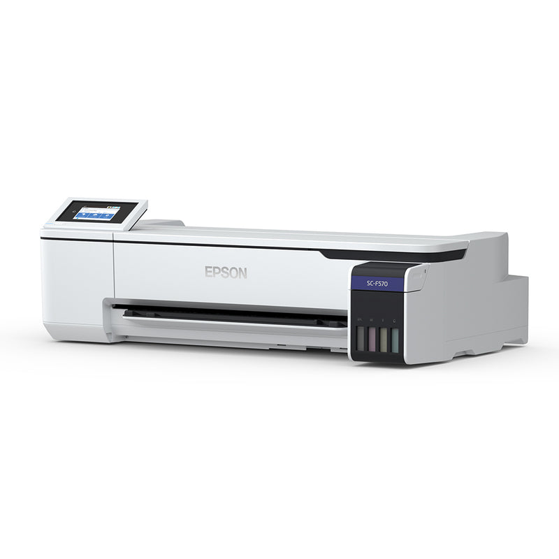 "Epson SureColor F570 24"" Dye Sublimation Printer Angled Right Side View"