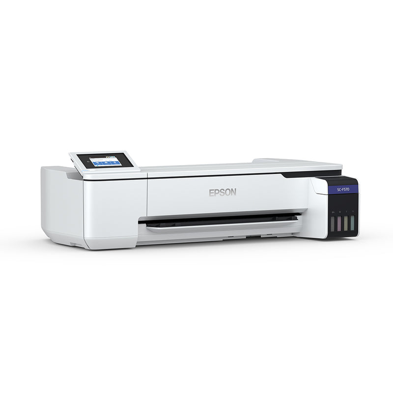 "Epson SureColor F570 24"" Dye Sublimation Printer Angled Left Side View"