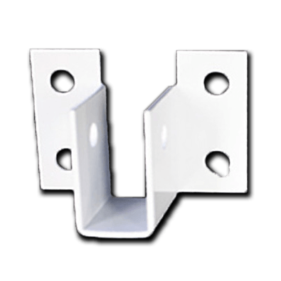 ALUMINUM BRACKET POWDER COATED WHITE U-style