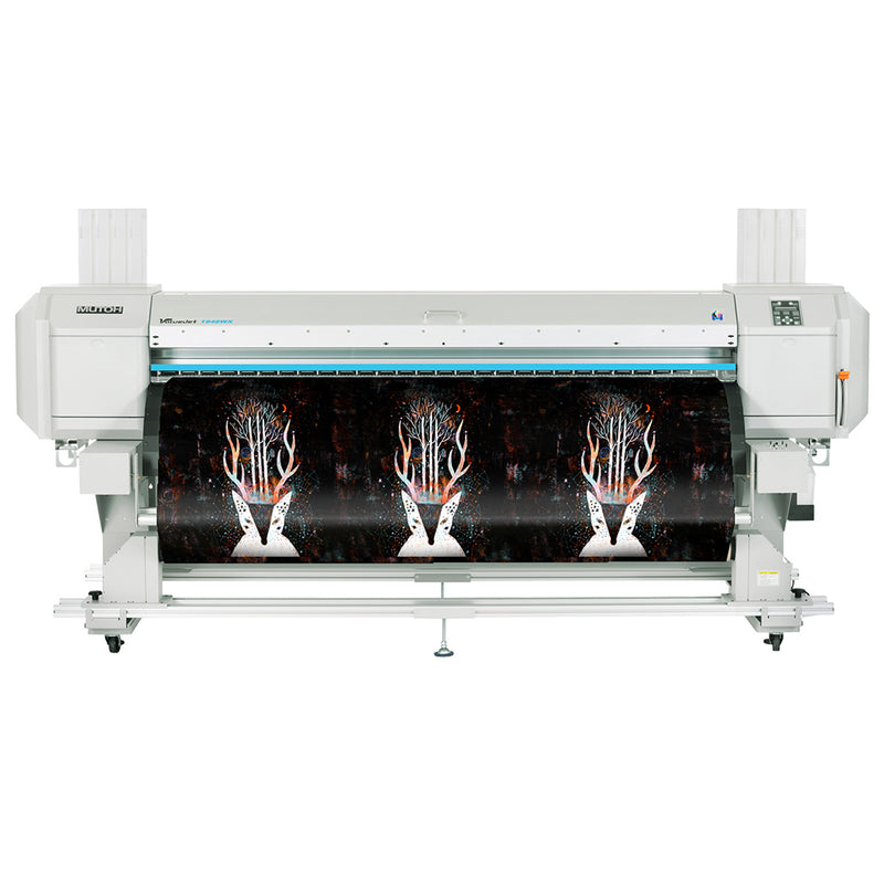 "Refurbished Mutoh ValueJet 1948WX Dye Sublimation Printer 75"" with Dye Sublimation Paper Front View"