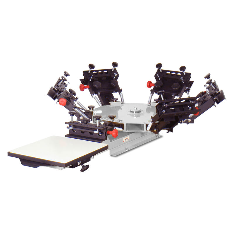Vastex V-1000 Series 1-Station 1 to 6-Color Tabletop Commercial Screen Printing Press