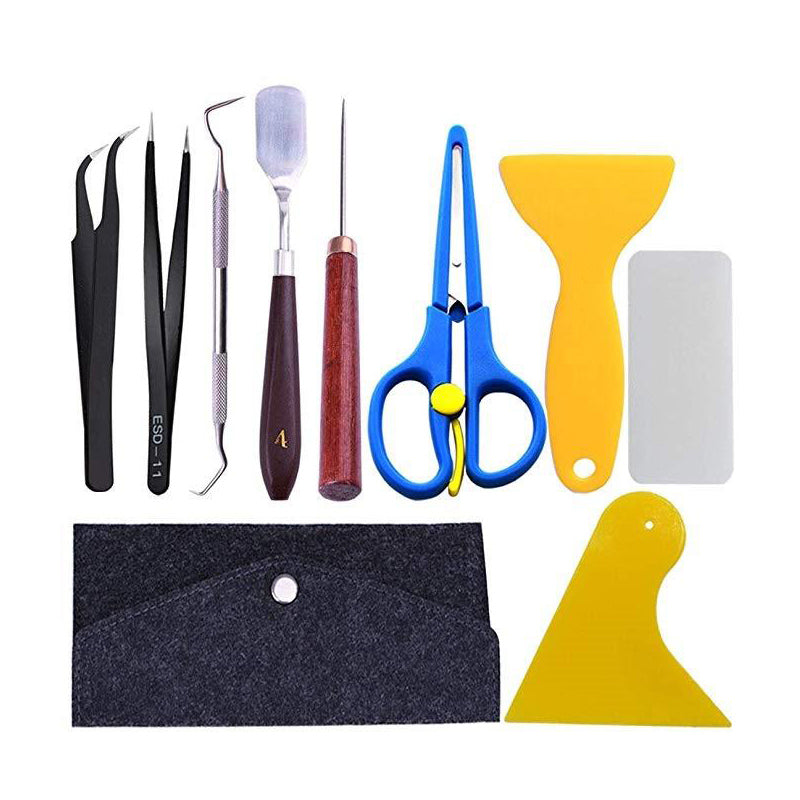 10 PC Vinyl Tool Kit With Pouch