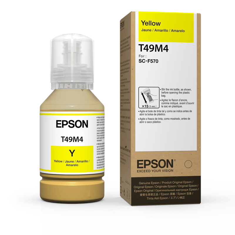 Epson Dye Sublimation Ink 140ML for Epson F570 and Epson F170 Yellow