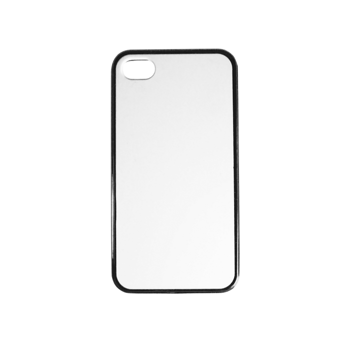 blank silicone with black trim iPhone 4 case