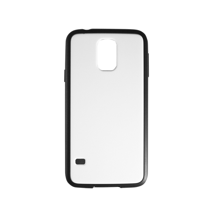 blank with black trim silicone samsung galaxy S5 case