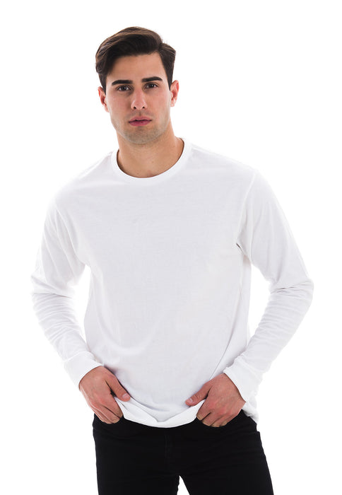1401 Men's Long Sleeve Tee Shirt (White)