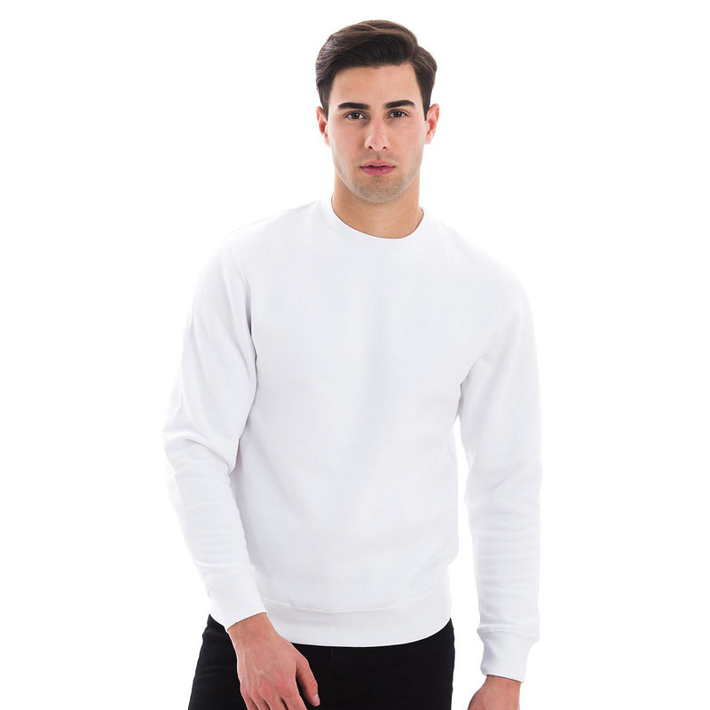 103 Adult Comfort Crew Sweatshirt White Front Full View