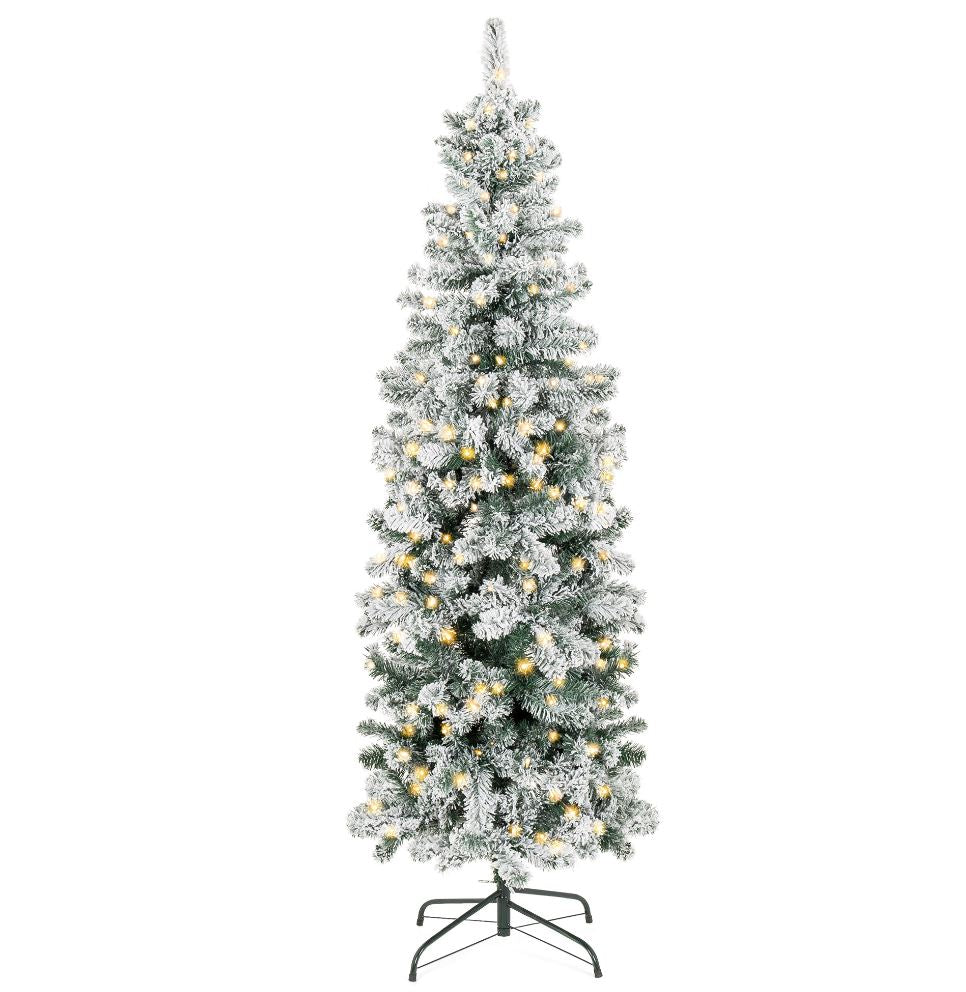 Pencil Snowy Pine PreLit Clear Lights