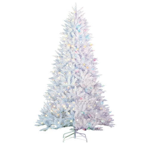 White Parkview Tree PreLit Color Changing LED