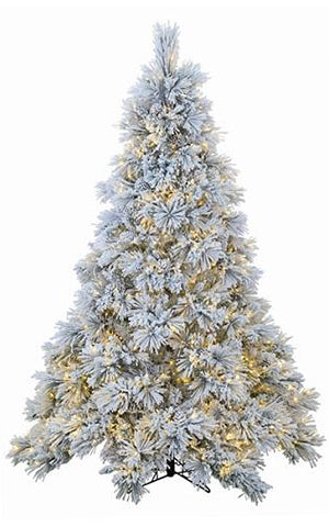 CRYSTAL FLOCKED TREE LED