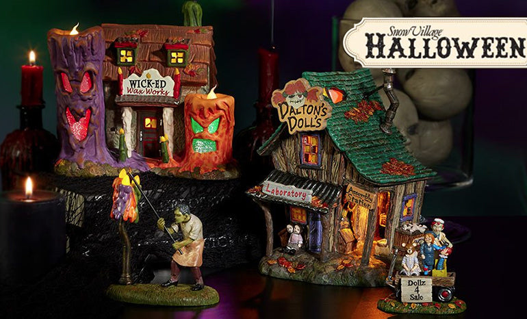 Snow Village Halloween collection